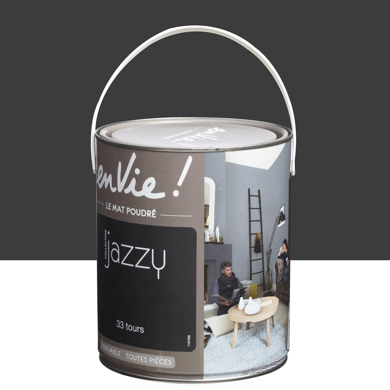 peinture noir 33 tours luxens envie collection jazzy 2 5 l leroy merlin. Black Bedroom Furniture Sets. Home Design Ideas