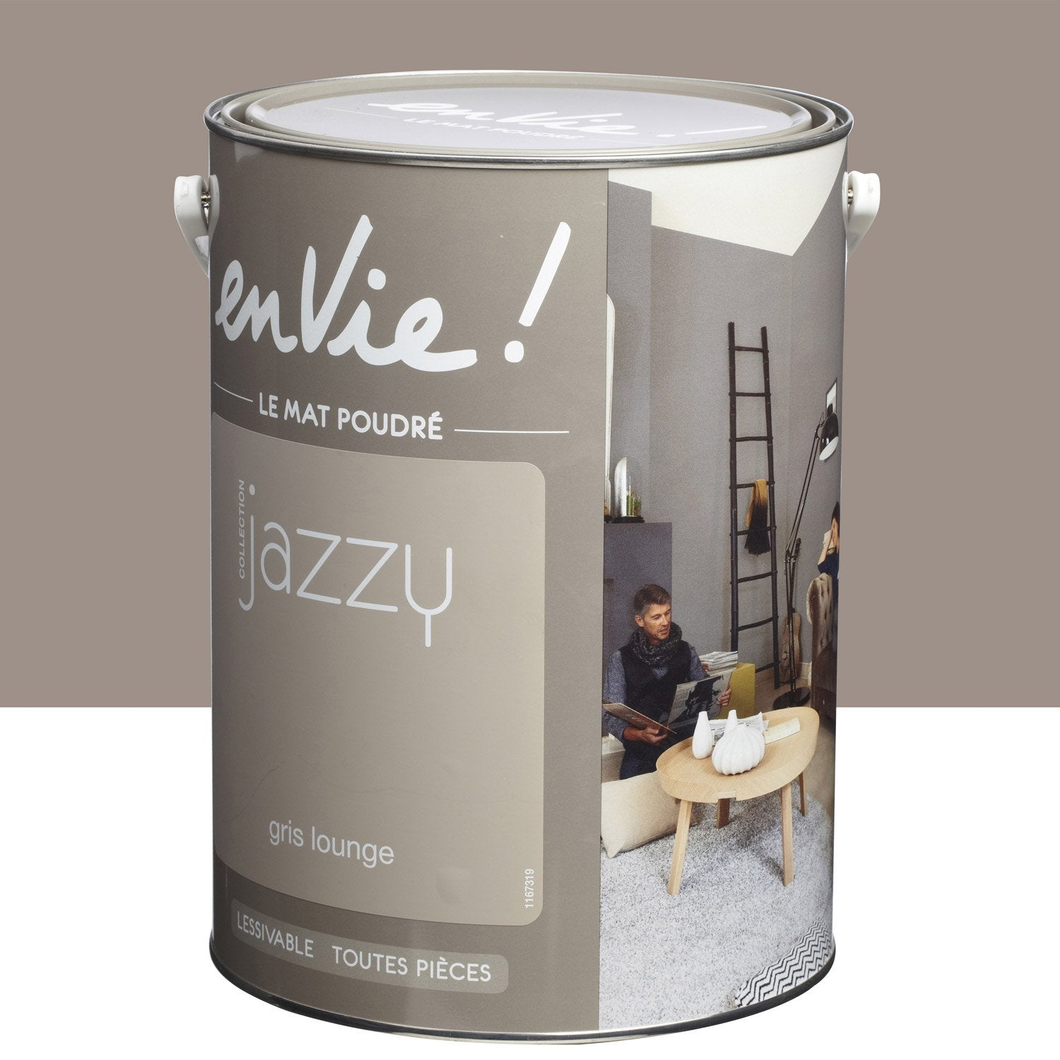 Peinture gris lounge luxens envie collection jazzy 5 l leroy merlin - Peinture envie leroy merlin ...