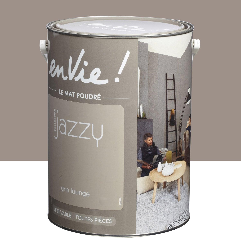 Peinture gris lounge luxens envie collection jazzy 5 l - Peinture leroy merlin luxens ...