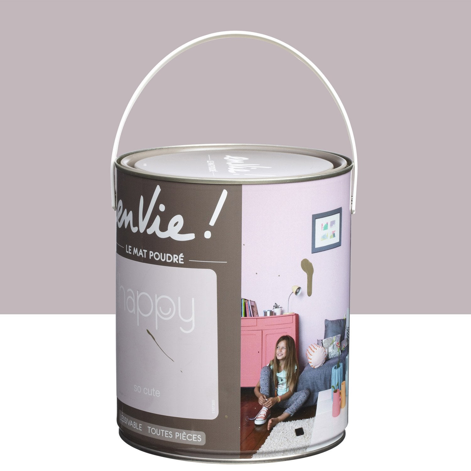 Peinture rose so cute luxens envie collection happy 2 5 l leroy merlin - Peinture pailletee leroy merlin ...