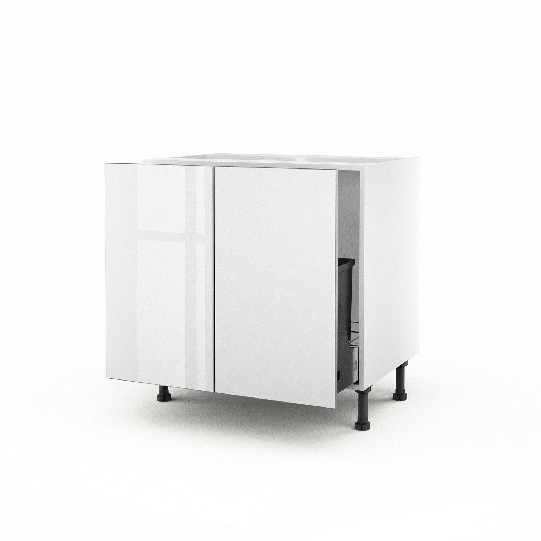 meuble de cuisine sous vier blanc 2 portes everest x x cm leroy merlin. Black Bedroom Furniture Sets. Home Design Ideas