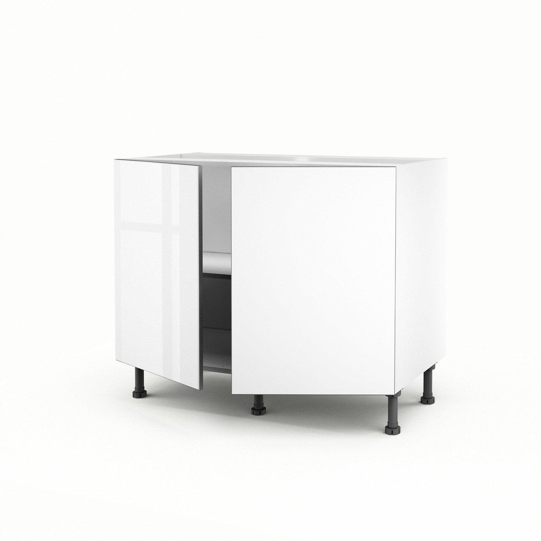 meuble de cuisine bas blanc 2 portes everest x x cm leroy merlin. Black Bedroom Furniture Sets. Home Design Ideas