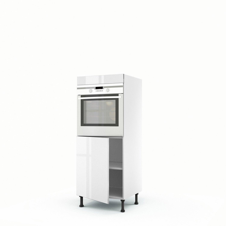 demi colonne blanc four 1 porte everest x x cm leroy merlin. Black Bedroom Furniture Sets. Home Design Ideas