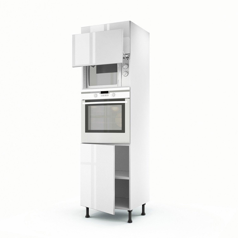 meuble de cuisine colonne blanc 3 portes everest x l. Black Bedroom Furniture Sets. Home Design Ideas