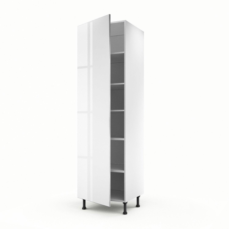 meuble de cuisine colonne blanc 1 porte everest x x cm leroy merlin. Black Bedroom Furniture Sets. Home Design Ideas