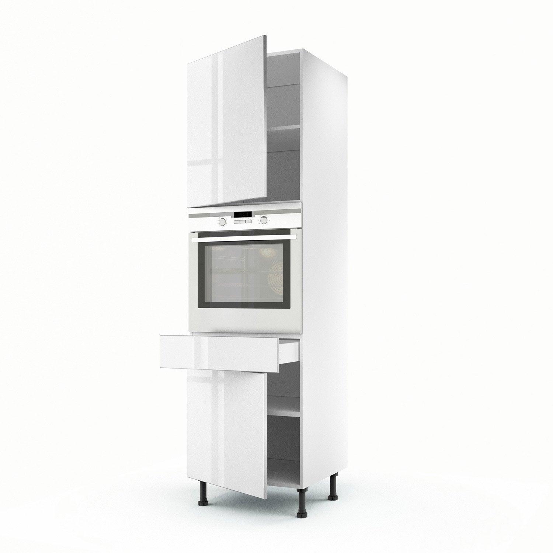 colonne blanc 2 portes 1 tiroir everest x x cm leroy merlin. Black Bedroom Furniture Sets. Home Design Ideas