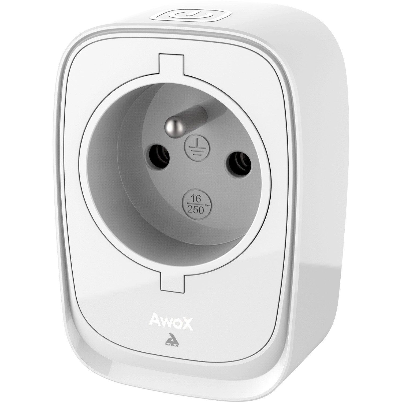 prise connect e bluetooth awox smartplug leroy merlin. Black Bedroom Furniture Sets. Home Design Ideas