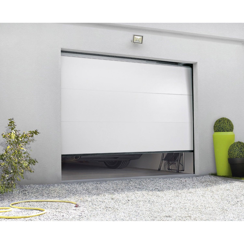 porte de garage sectionnelle artens x cm leroy merlin. Black Bedroom Furniture Sets. Home Design Ideas