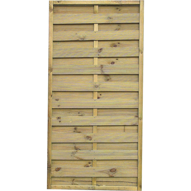 Panneau en bois droit occultant l 90 x h 180 cm naturel leroy merlin - Claustra en bois leroy merlin ...