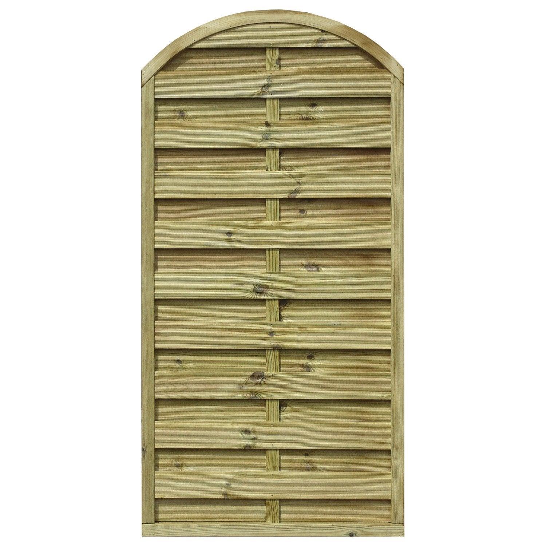 Panneau en bois arc occultant l 90 x h 180 cm naturel leroy merlin - Leroy merlin panneau bois ...