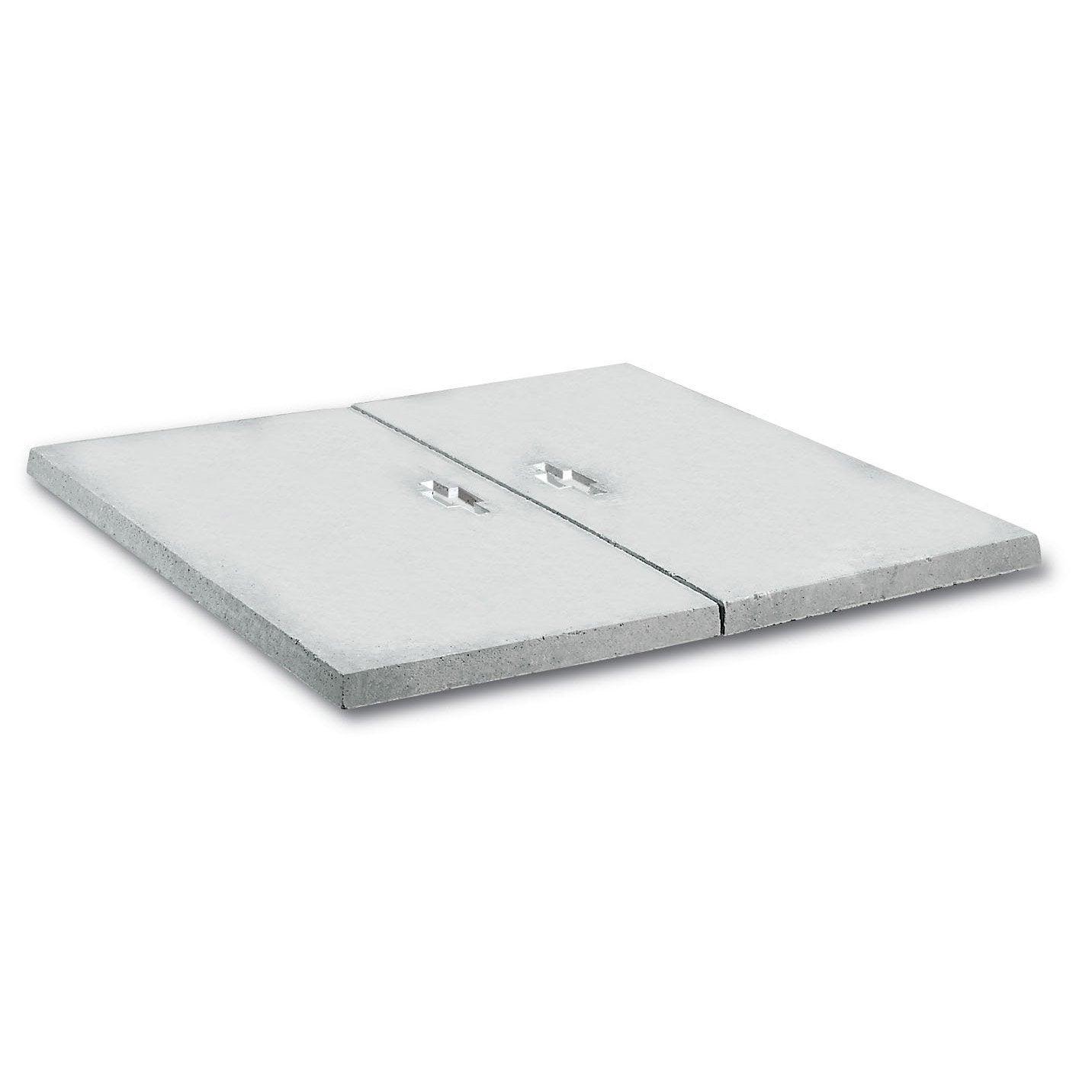 Couvercle pour abri b ton gris legouez x cm for Carrelage 70x70