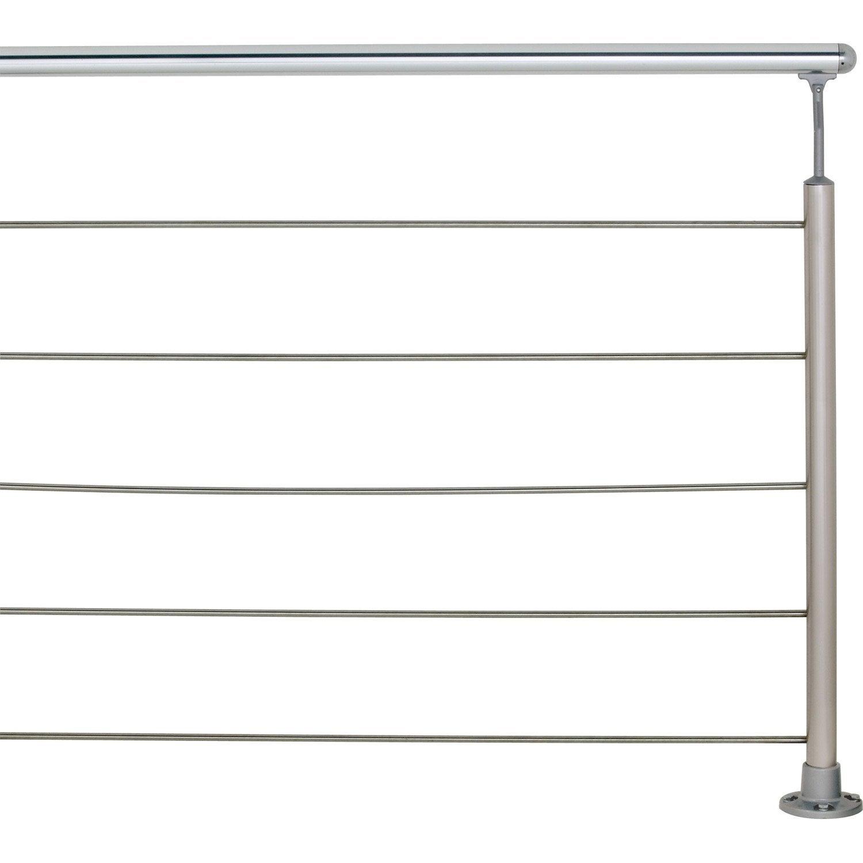 Main courante aluminium poli obapi 2 m leroy merlin - Rampe escalier exterieur leroy merlin ...