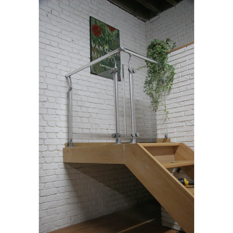 2 pinces alu d part mural pour plexi leroy merlin. Black Bedroom Furniture Sets. Home Design Ideas