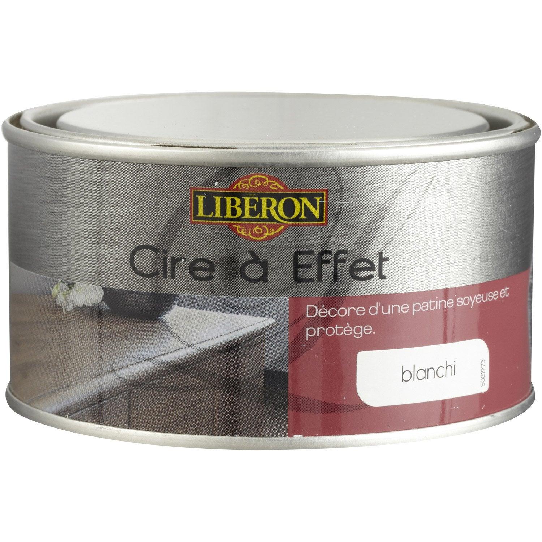 Cire effet meuble et objets liberon effet blanchi for Peinture meuble effet metal