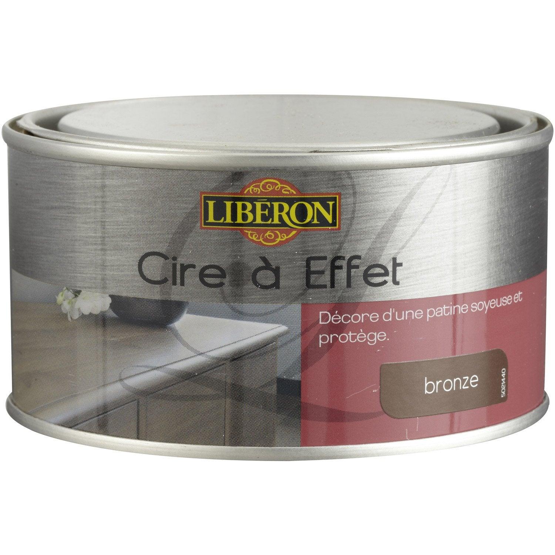Cire à effet meuble et objets LIBERON, effet cuivré, 025