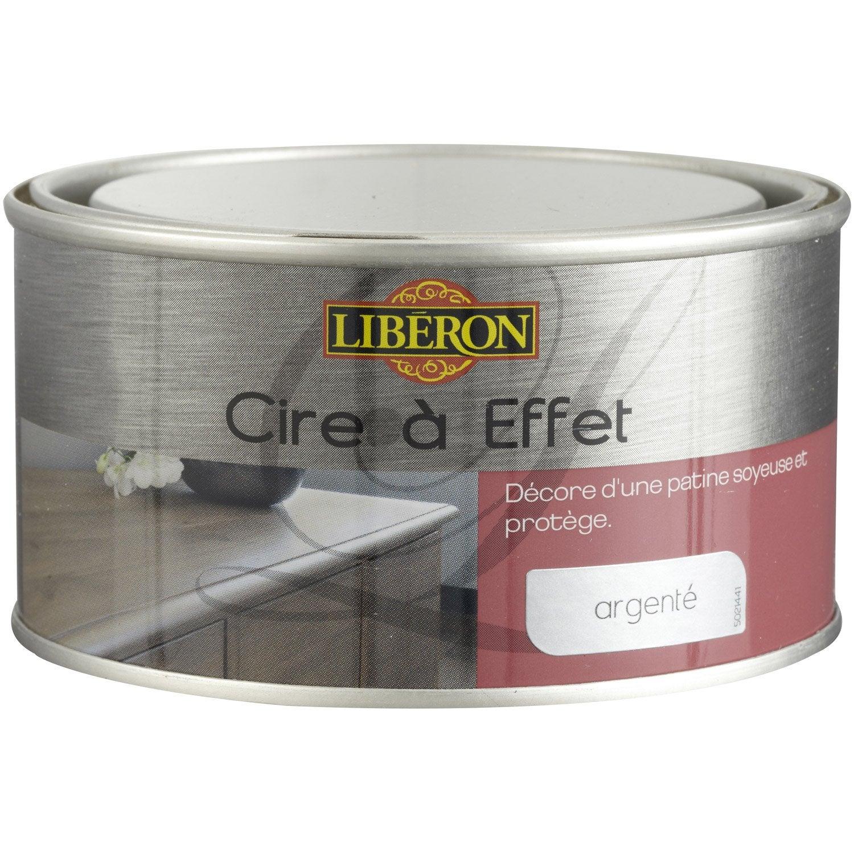 Cire effet meuble et objets liberon effet argent for Produit liberon bois