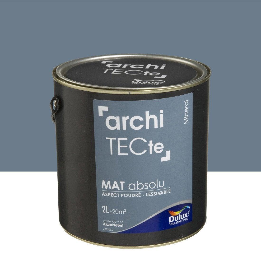 Peinture gris minerai dulux valentine architecte 2 l leroy merlin - Peinture craie leroy merlin ...
