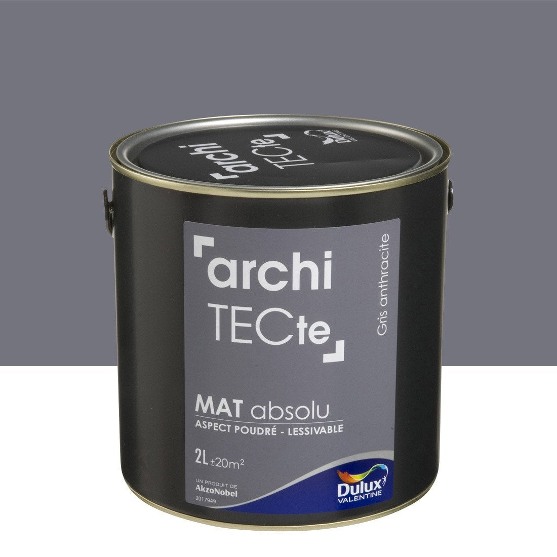 peinture multisupports architecte dulux valentine gris anthracite 2 l leroy merlin. Black Bedroom Furniture Sets. Home Design Ideas
