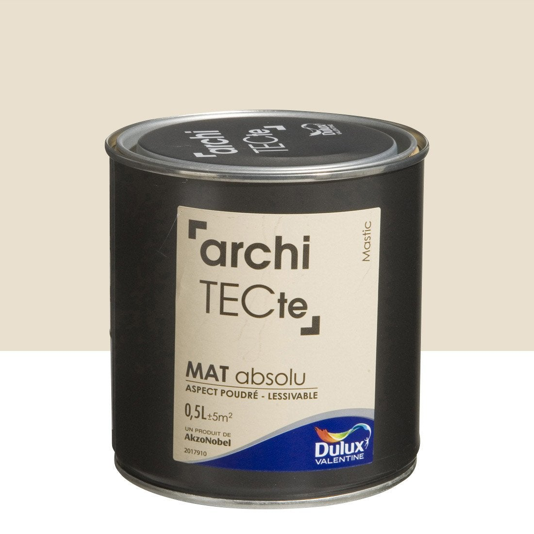 peinture beige mastic dulux valentine architecte 0 5 l leroy merlin. Black Bedroom Furniture Sets. Home Design Ideas