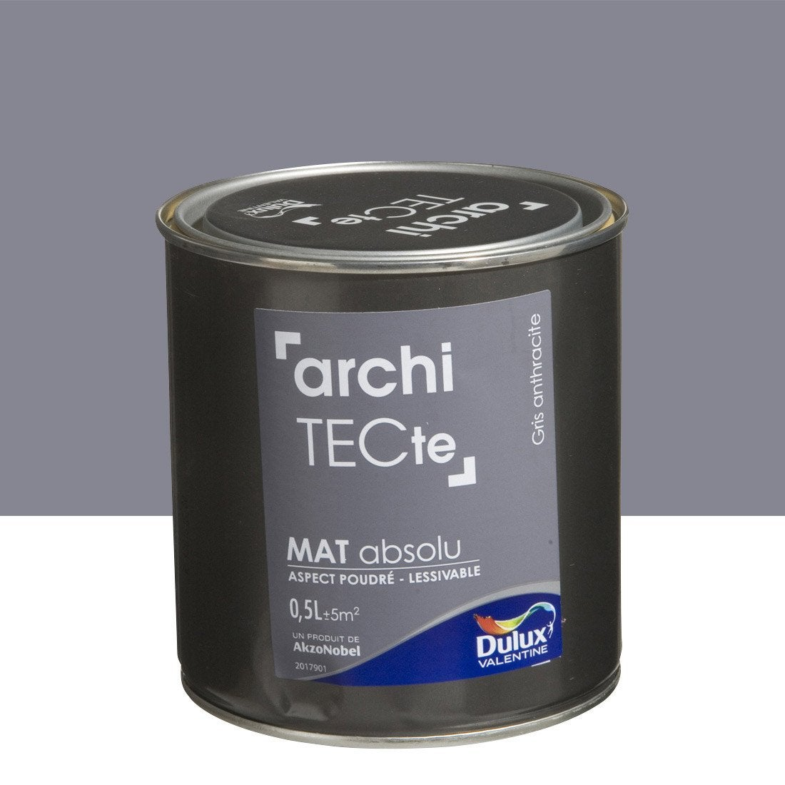 Peinture gris anthracite dulux valentine architecte 0 5 l for Peinture porte interieure gris anthracite