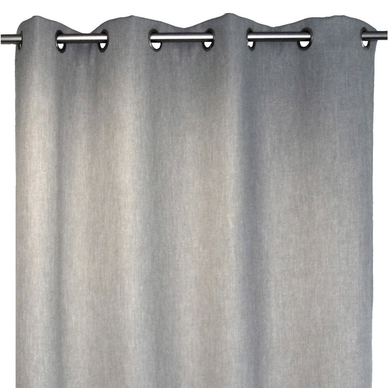 rideau bee argent 140 x 250 cm leroy merlin. Black Bedroom Furniture Sets. Home Design Ideas