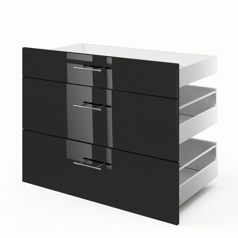 3 tiroirs de meuble de cuisine 3d90 delinia rio x h for Meuble cuisine 90 cm