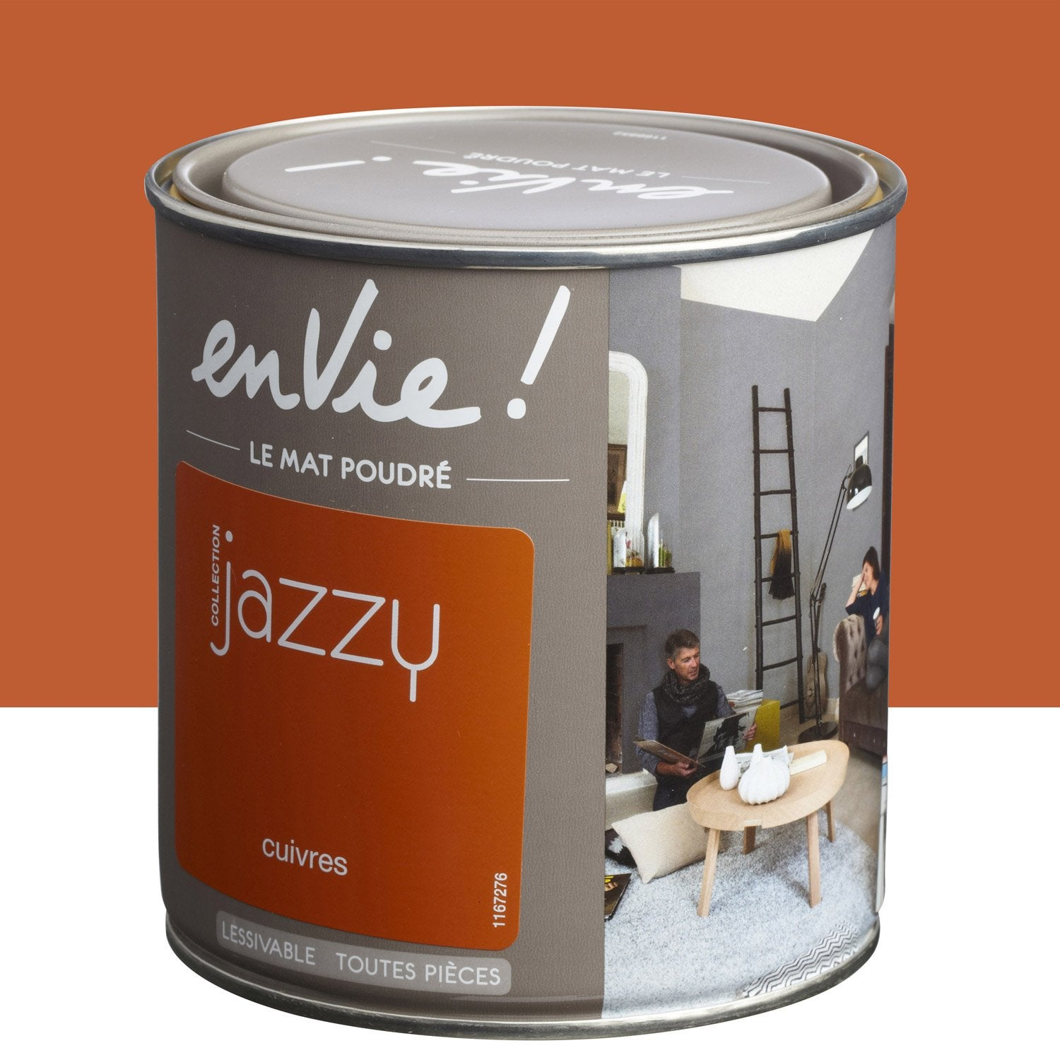 Peinture orange cuivres luxens envie collection jazzy 0 5 l leroy merlin for Peinture teinte leroy merlin