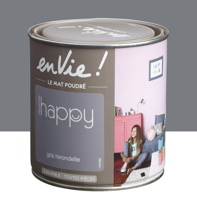 Peinture gris hirondelle luxens envie collection happy 0 5 for Le roy merlin peinture