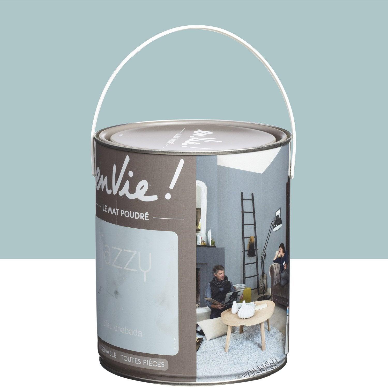 Peinture bleu chabada luxens envie collection jazzy 2 5 l for Peinture aimantee leroy merlin