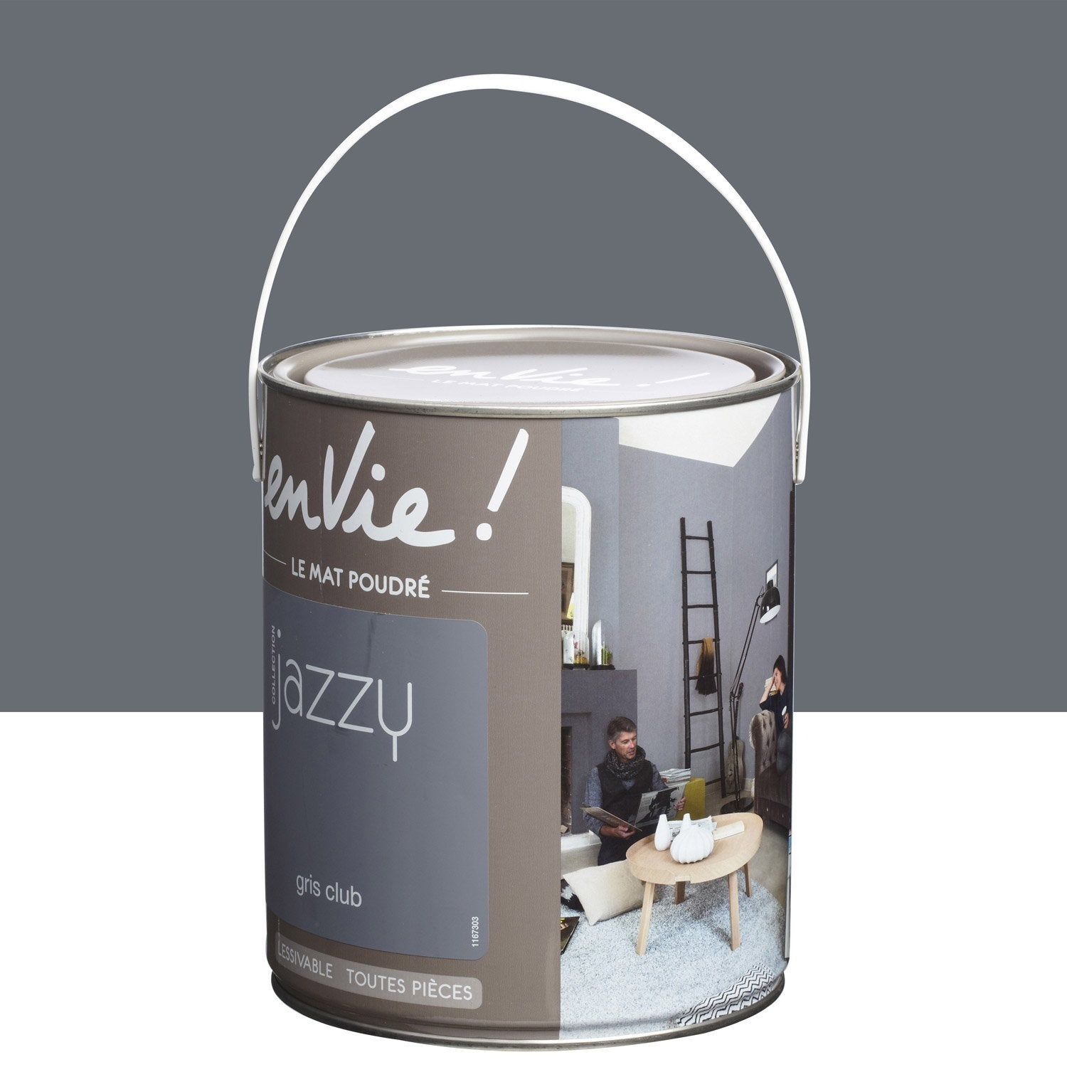 Peinture gris club luxens envie collection jazzy 2 5 l - Club leroy merlin ...