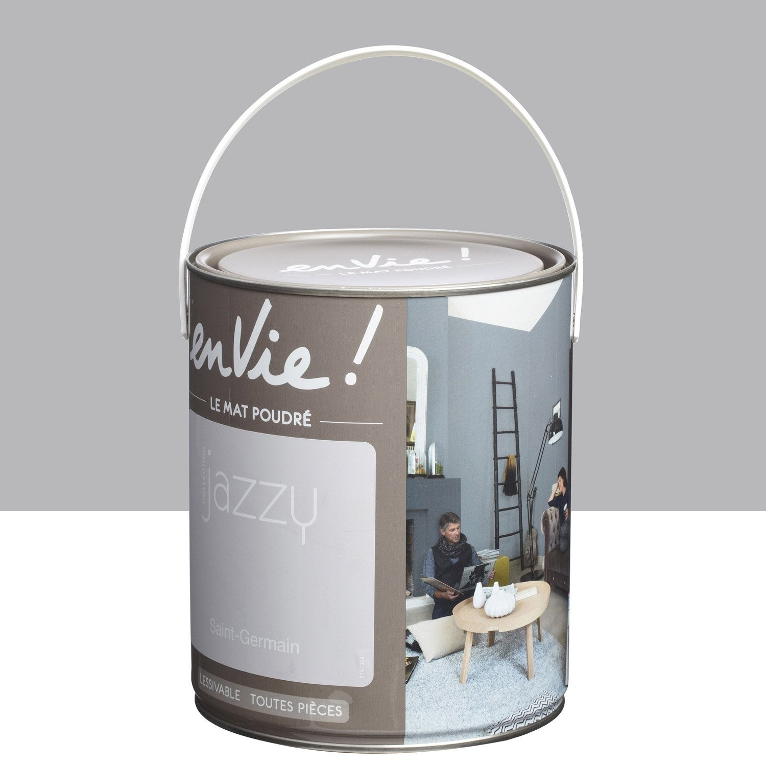 Peinture gris saint germain luxens envie collection jazzy 2 5 l leroy merlin - Peinture envie leroy merlin ...
