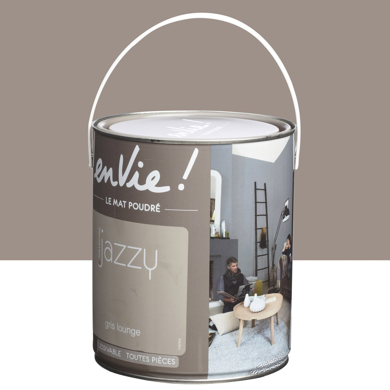 Peinture gris lounge luxens envie collection jazzy 2 5 l leroy merlin - Peinture envie leroy merlin ...