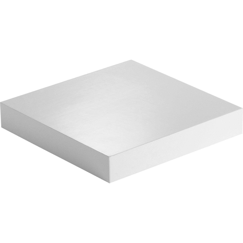 Etagu00e8re Murale Blanc-blanc Nu00b00 SPACEO L 23.5 X P 23.5 Cm Ep.18 Mm | Leroy Merlin