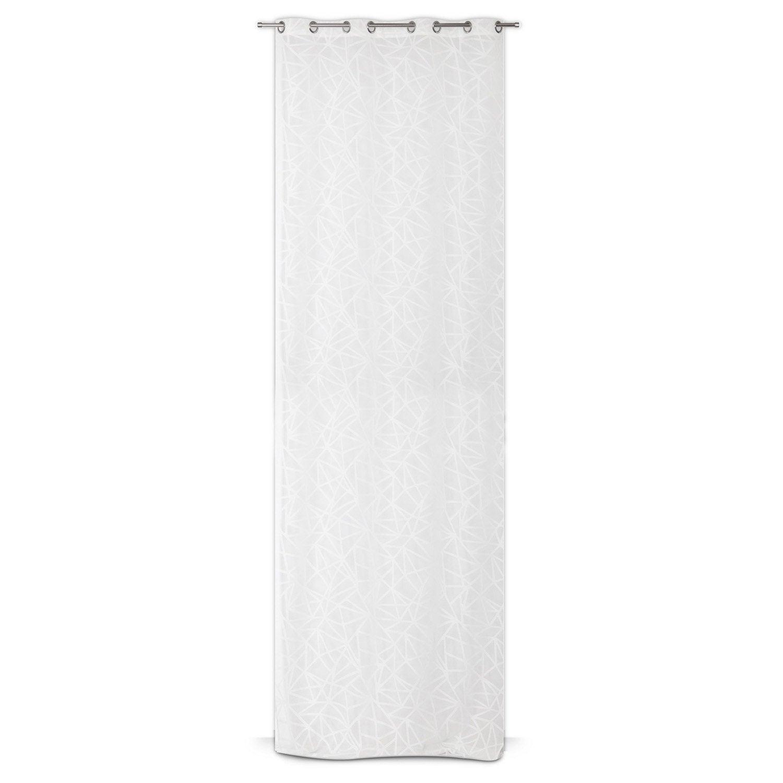 voilage tamisant grande hauteur manon blanc x h. Black Bedroom Furniture Sets. Home Design Ideas