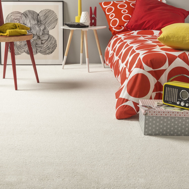 moquette velours ciel premium blanche 4 m leroy merlin. Black Bedroom Furniture Sets. Home Design Ideas
