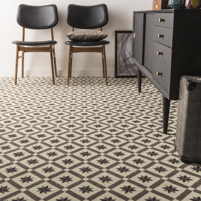 moquette velours cx de ciment flower premium multicolore 4 m leroy merlin. Black Bedroom Furniture Sets. Home Design Ideas