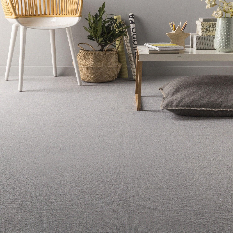 moquette velours london artens argent 4 m leroy merlin. Black Bedroom Furniture Sets. Home Design Ideas