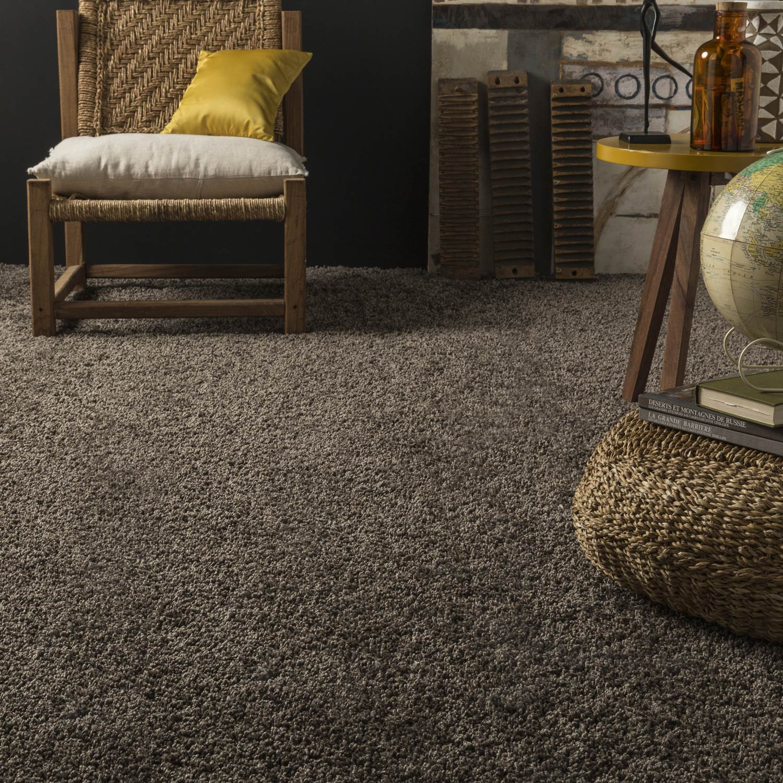 moquette shaggy exclusive premium chocolat 4 m leroy merlin. Black Bedroom Furniture Sets. Home Design Ideas