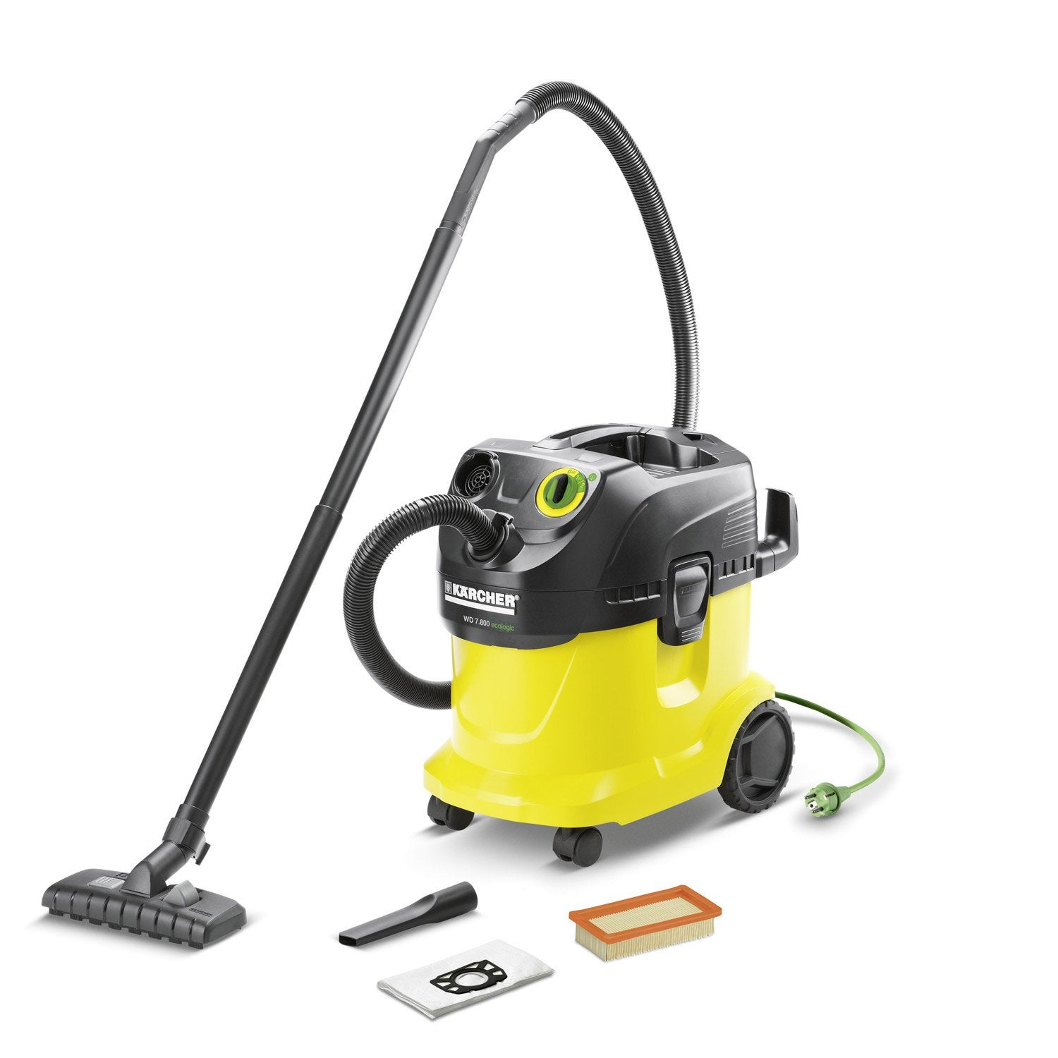 aspirateur industriel eau et poussi res karcher wd7800 eco 21 kpa 25 l leroy merlin. Black Bedroom Furniture Sets. Home Design Ideas