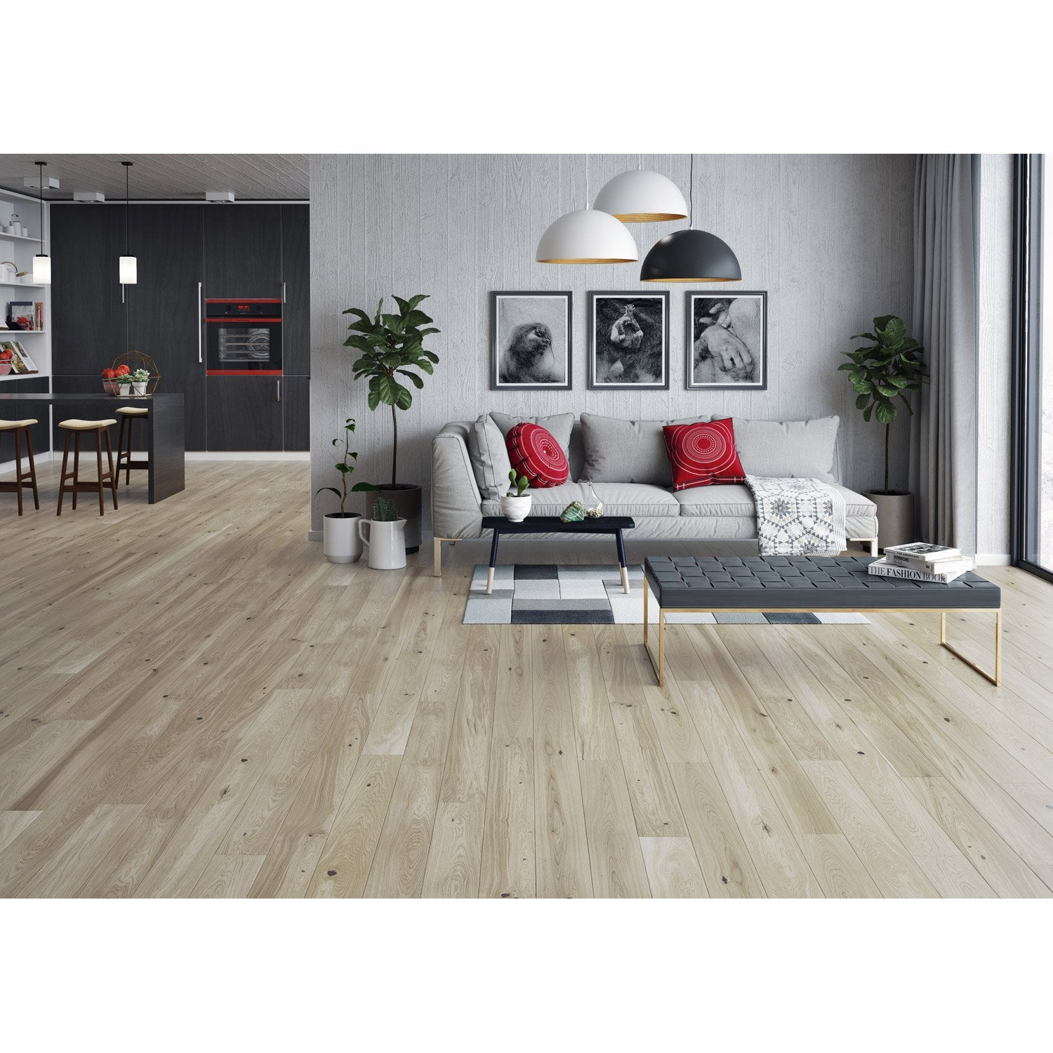 poser du parquet flottant avec leroy merlin brico depot. Black Bedroom Furniture Sets. Home Design Ideas