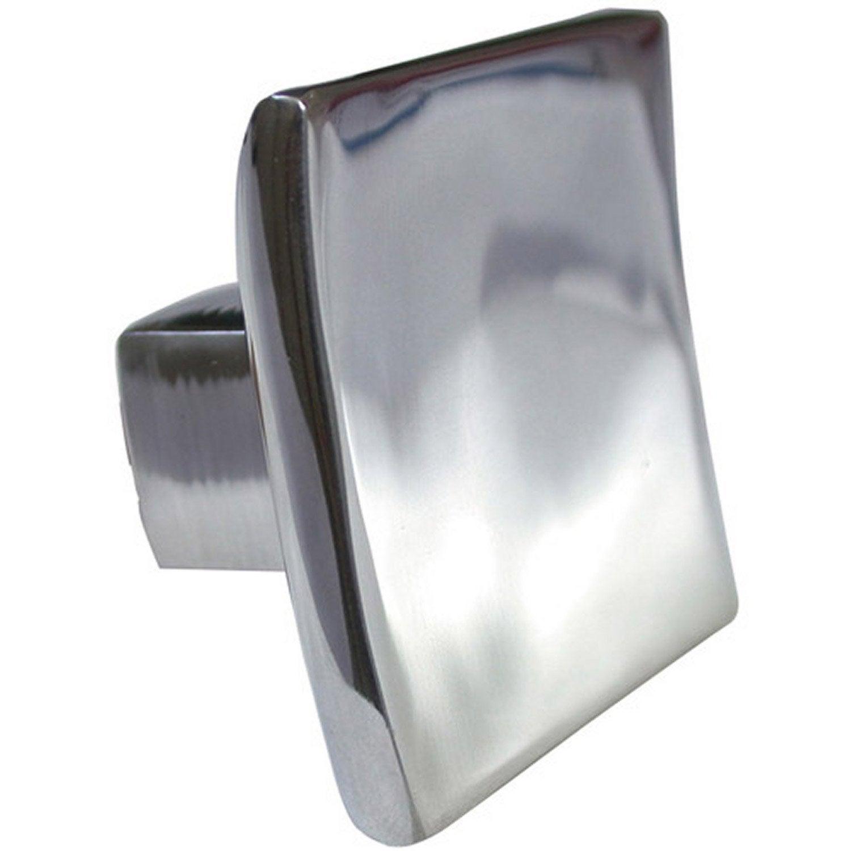 Bouton De Meuble Carr Aluminium Brillant Leroy Merlin