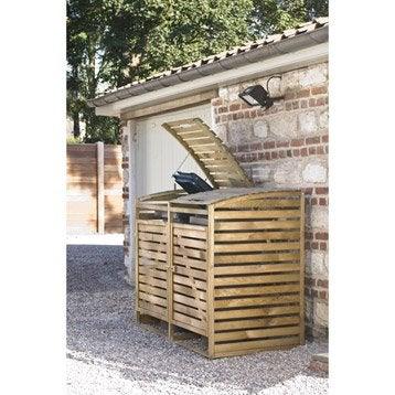 cache poubelles simple en bois trait autoclave pictures. Black Bedroom Furniture Sets. Home Design Ideas