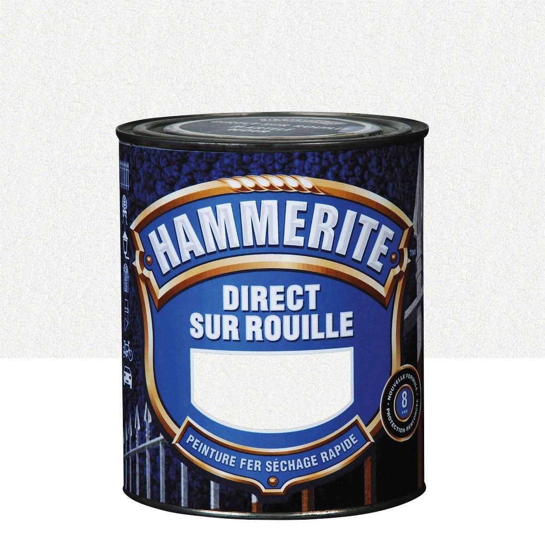 Peinture fer ext rieur hammerite blanc 2 5 l leroy merlin - Leroy merlin peinture fer ...