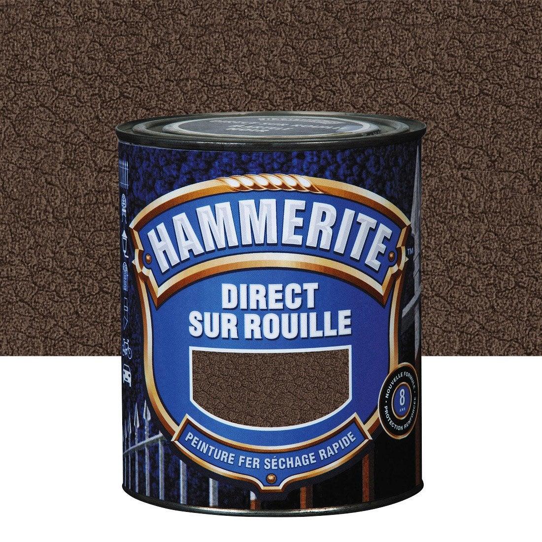 Peinture fer ext rieur hammerite ch taigne 2 5 l leroy - Peinture couleur rouille pour fer forge ...
