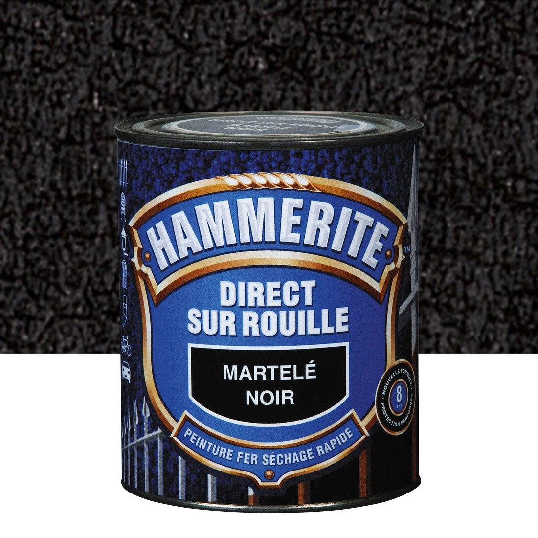 Peinture Fer Ext 233 Rieur Hammerite Noir 2 5 L Leroy Merlin
