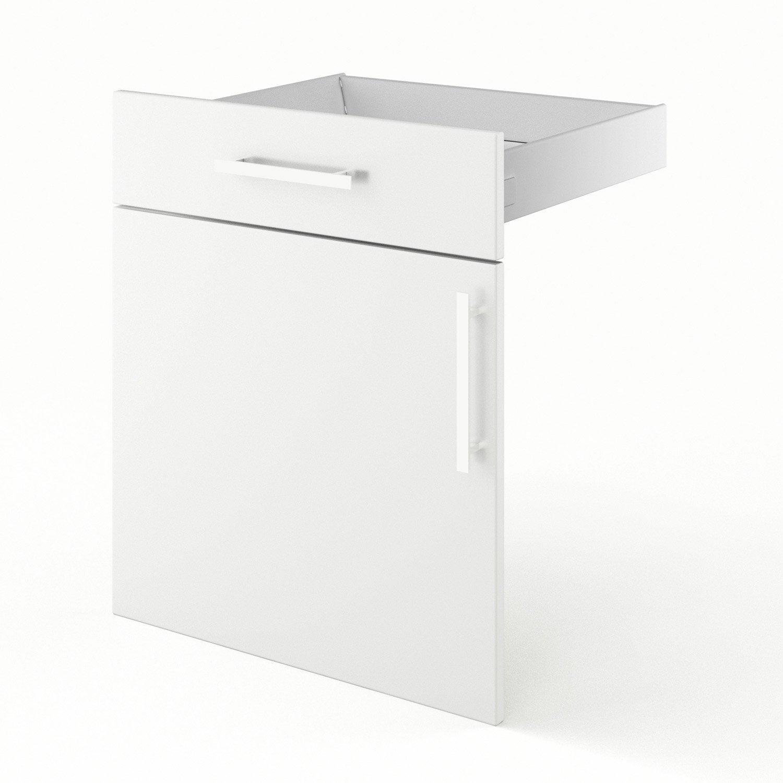 Porte tiroir de cuisine blanc fd60 d lice l60 x h70 x for Porte 60 avis