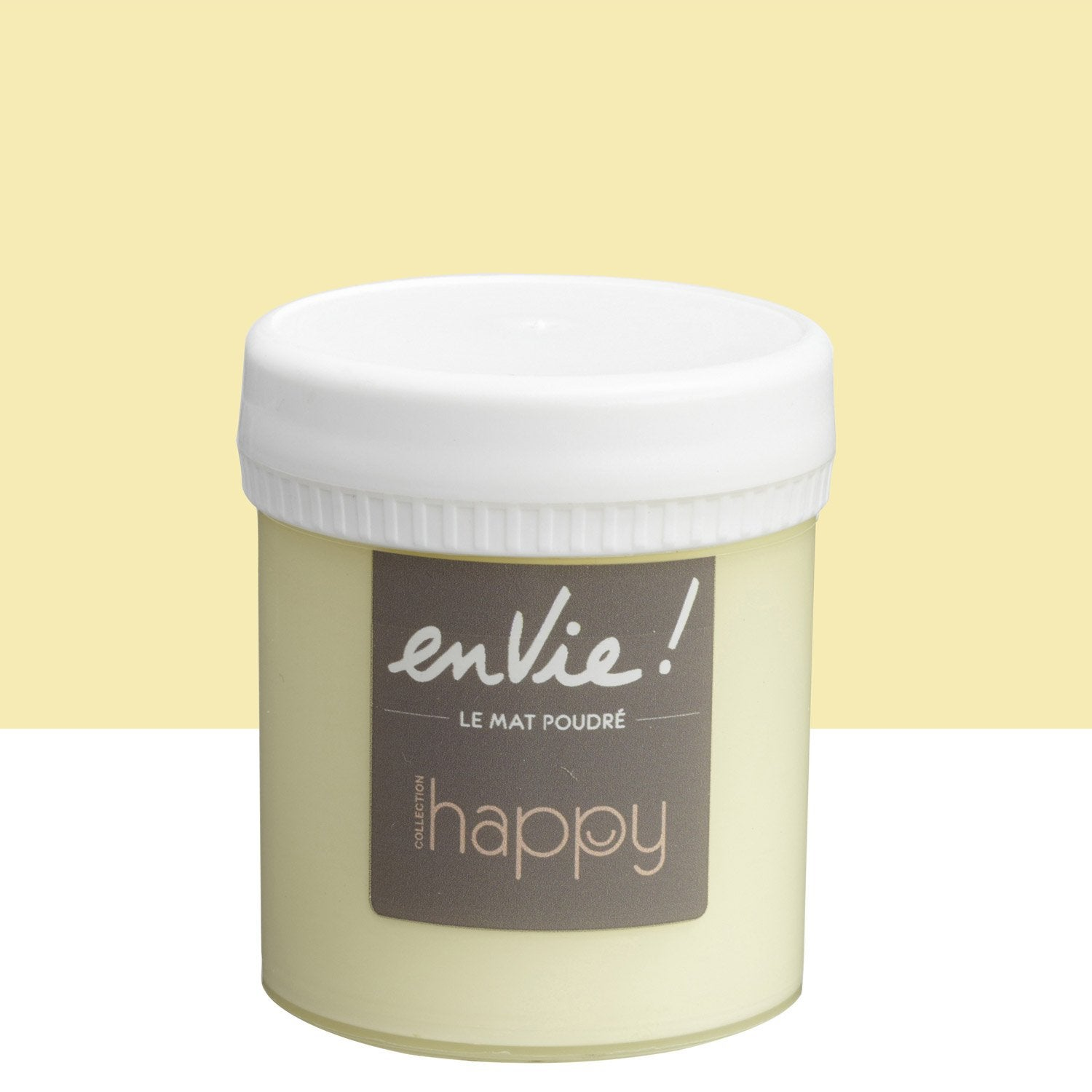 Testeur peinture envie collection happy luxens jaune pop corn l ler - Peinture envie leroy merlin ...