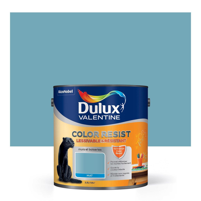 Peinture bleu verre dulux valentine color resist 2 5 l leroy merlin - Peinture isolante leroy merlin ...