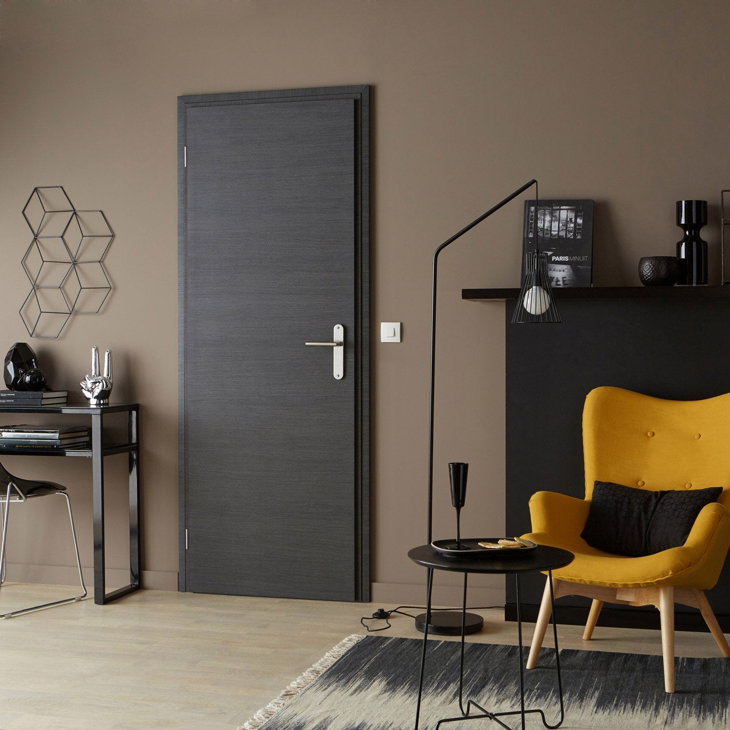 Bloc porte r novation gris easy r no artens x cm poussant droit leroy merlin for Porte interieur renovation