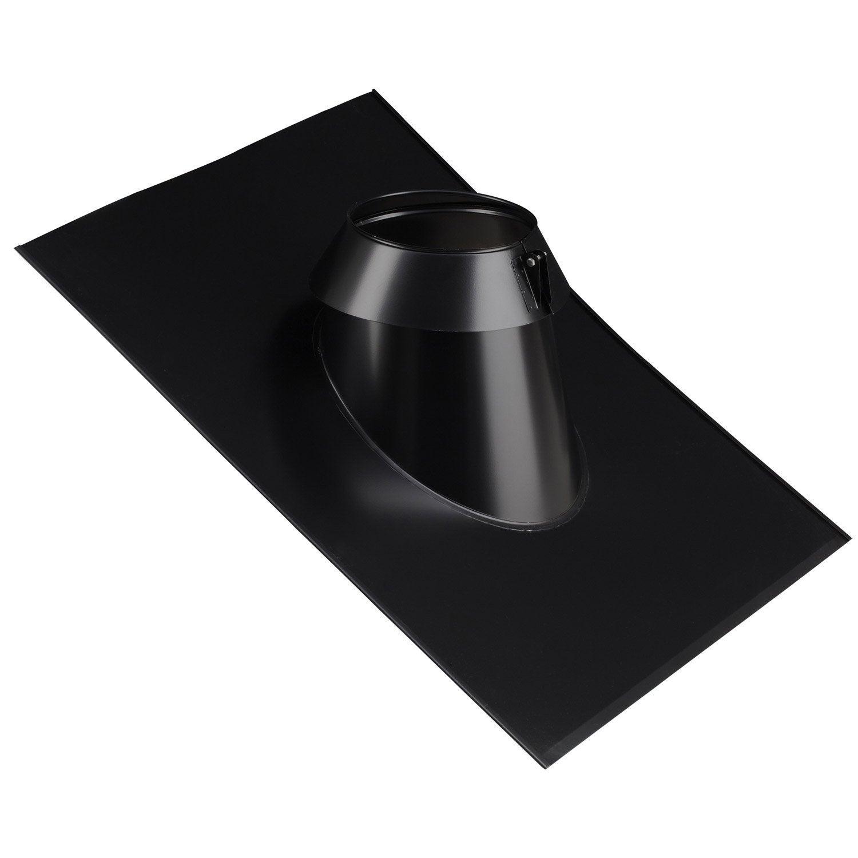 solin inox sia 45 150 tz noir poujoulat mm 590x650 leroy merlin. Black Bedroom Furniture Sets. Home Design Ideas